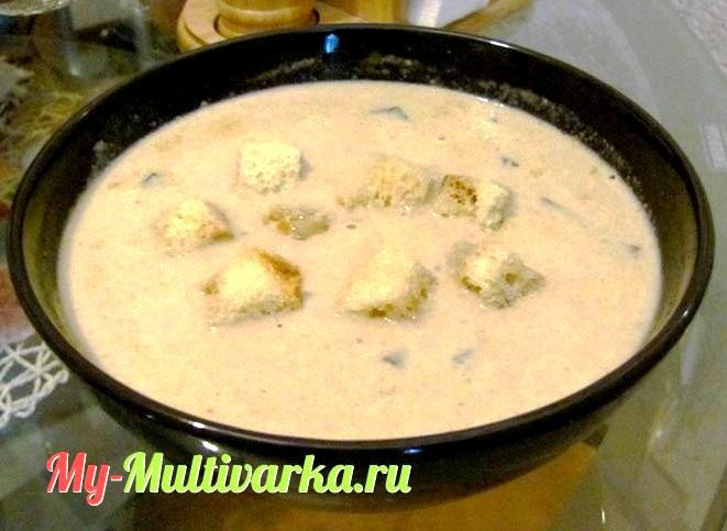 Суп пюре из шампиньонов в мультиварке рецепты