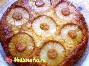 Ананасовый пирог в мультиварке
