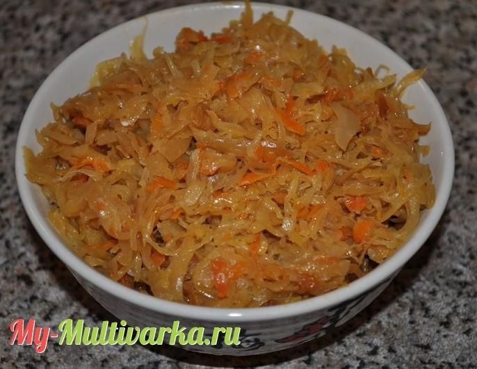 Как приготовить капусту с мясом в мультиварке