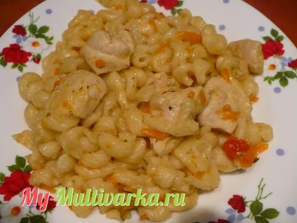 Рецепт: Спагетти с грибами и овощами (в мультиварке) на ...