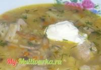 Гороховый суп с грибами в мультиварке