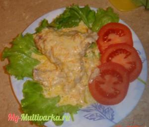 Курица с соусом в мультиварке